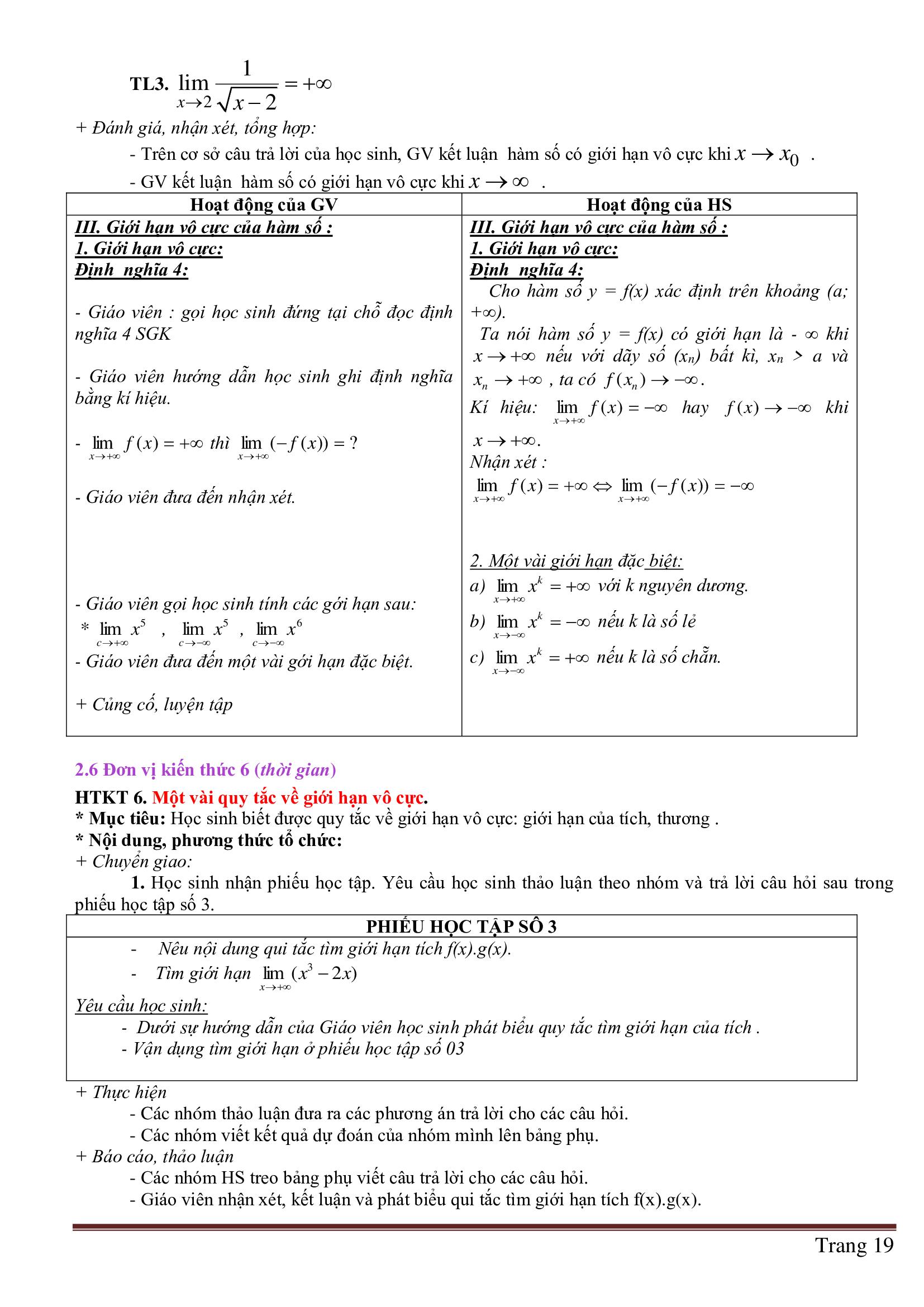 Tài liệu Giáo Án Toán 11 HK2 Đại Số chương trình mới - Phần 1 full mới nhất