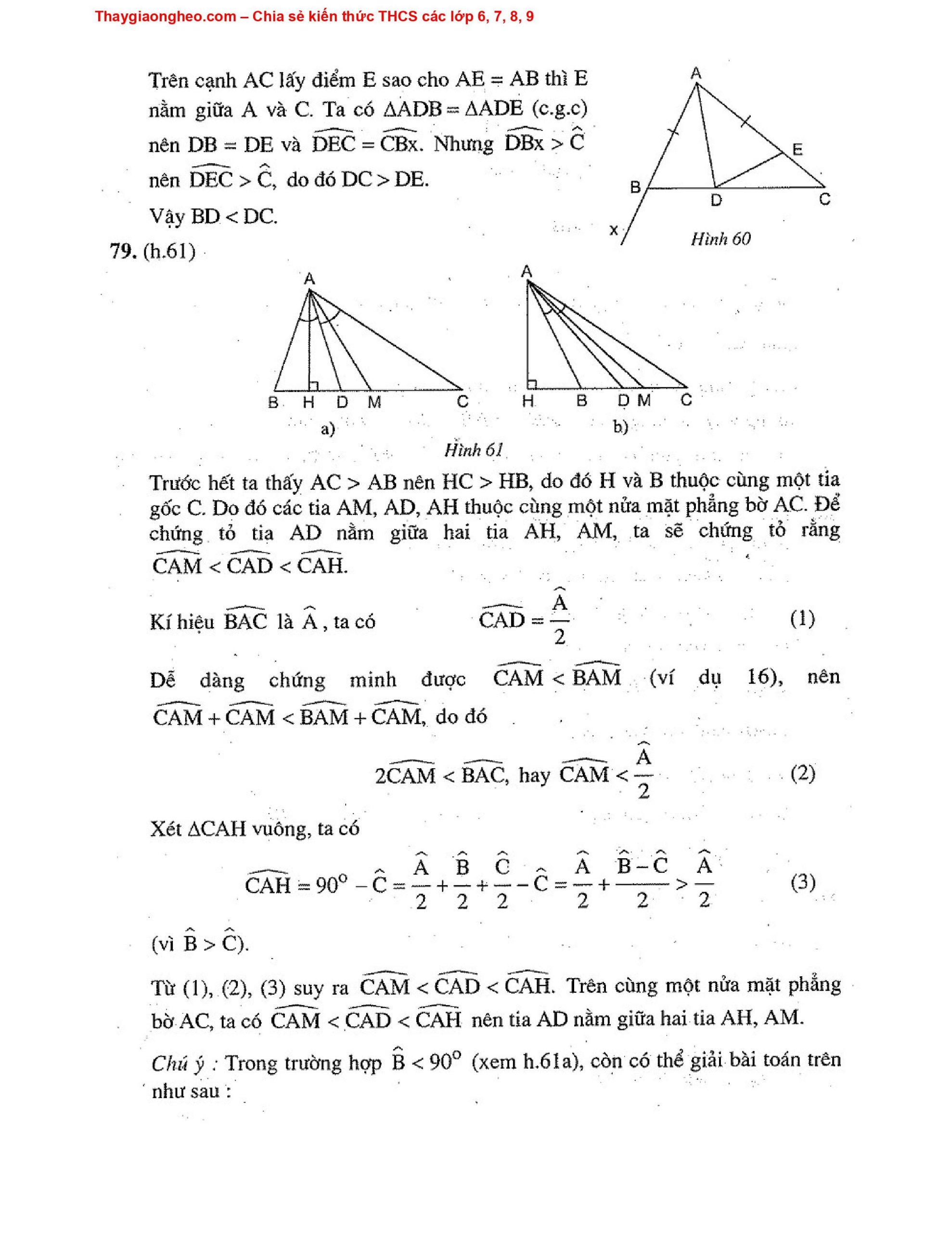Toán Hình Học 7 Nâng Cao HK2 - Tập 2 Bộ GD