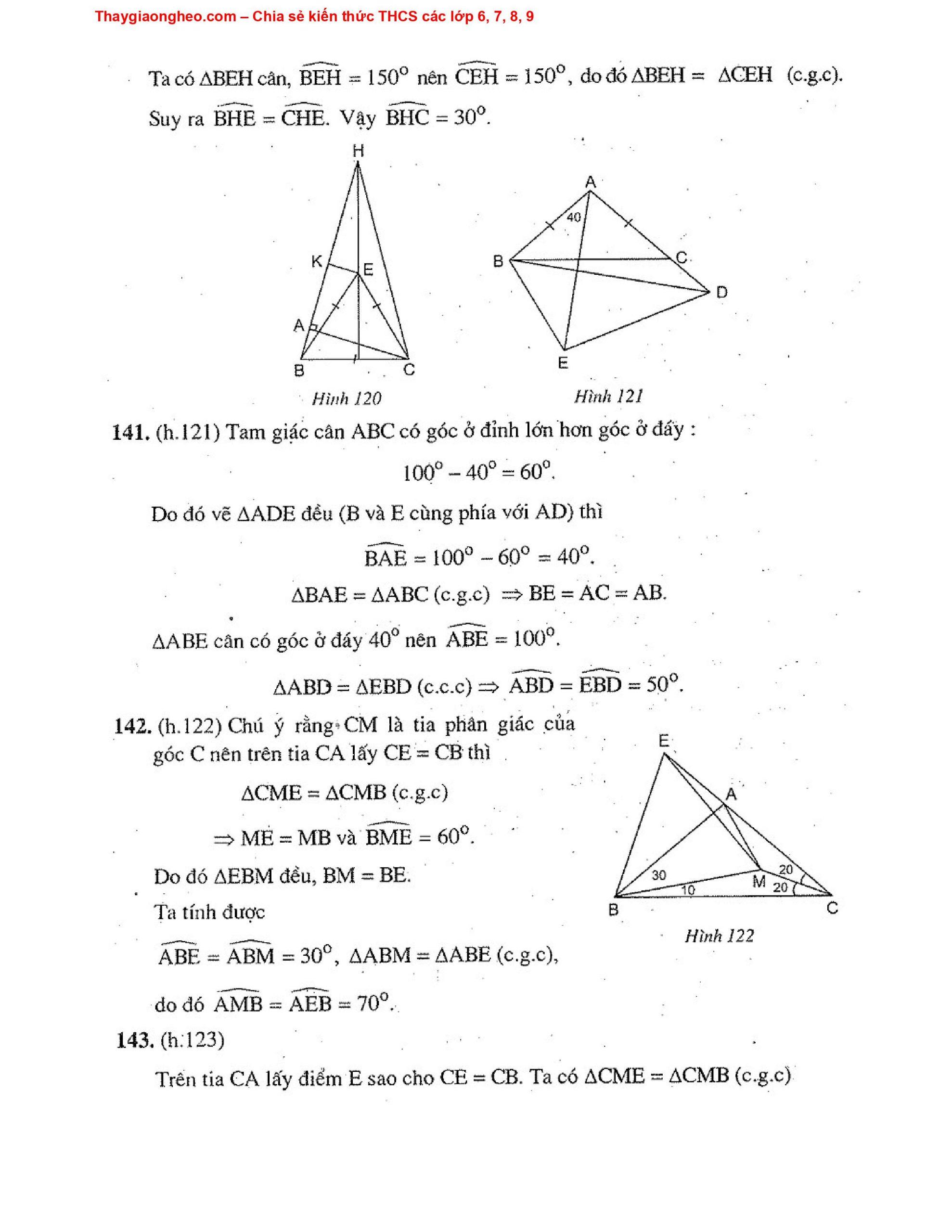 Toán Hình Học 7 Nâng Cao HK2 - Tập 2 Hay