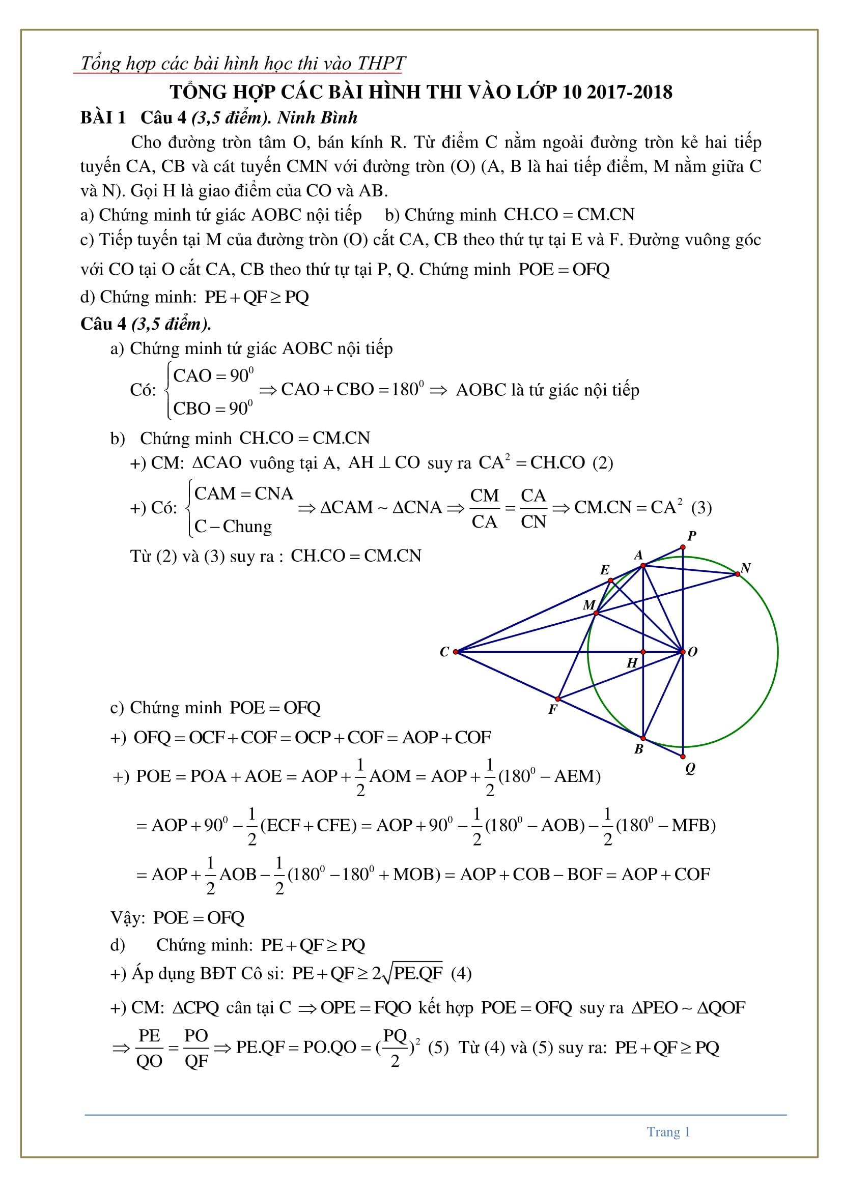 46 bài tập hình học trong kỳ thi Toán tốt nghiệp THPT - hướng dẫn chi tiết
