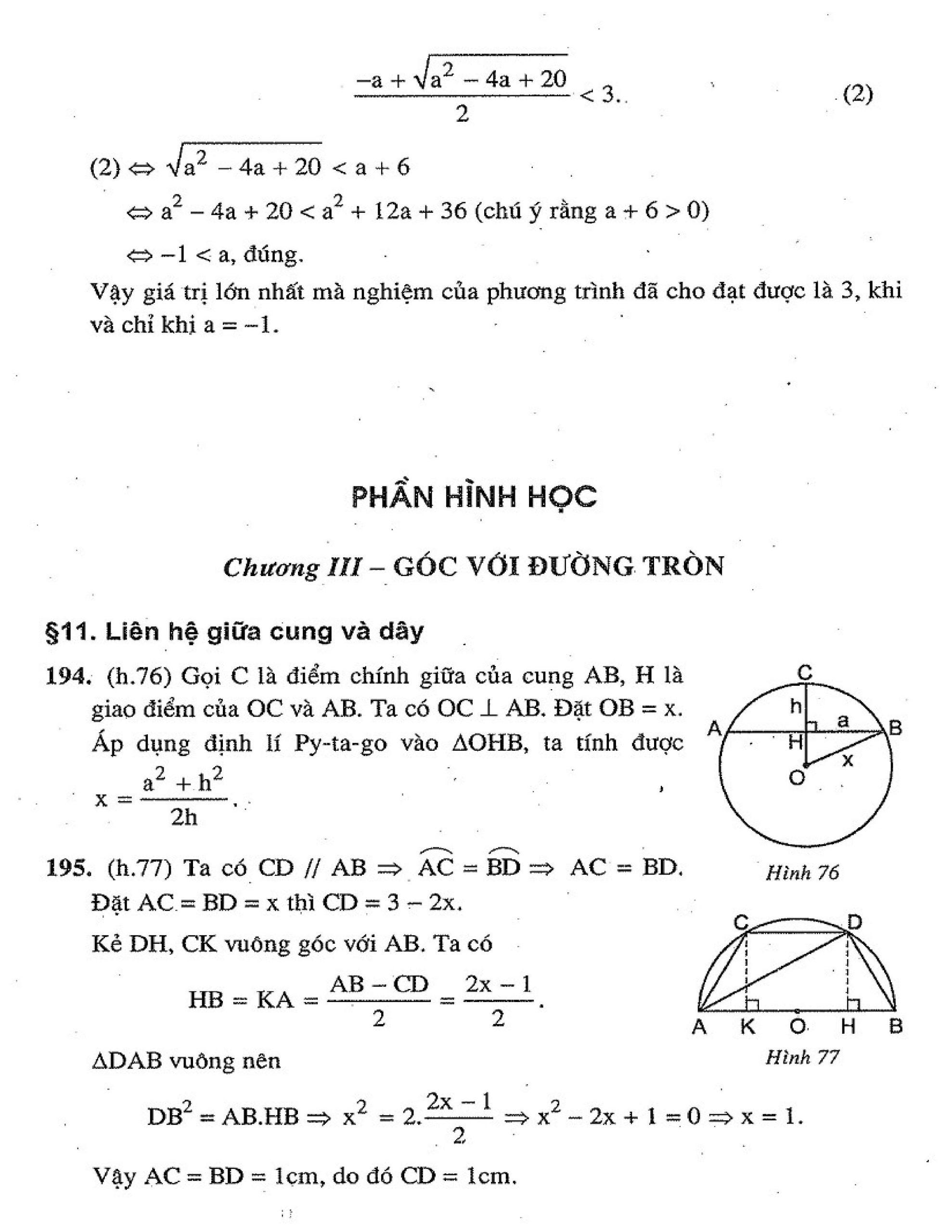Bộ Tài Liệu Toán Hình Học 9 Nâng Cao HK2 - Tập 2 Mới