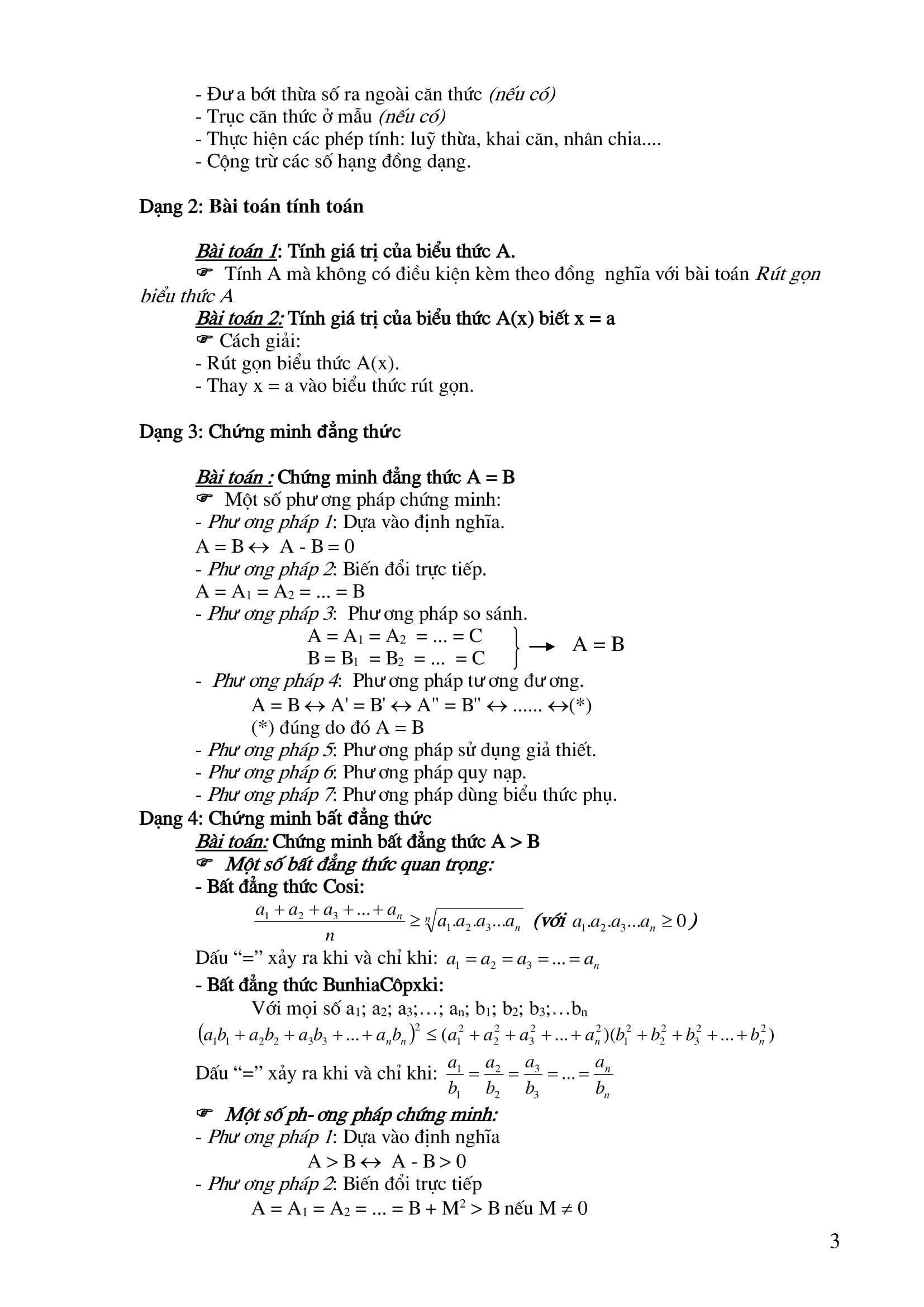 Công thức Toán 9 được tổng hợp đầy đủ nhất [PDF]